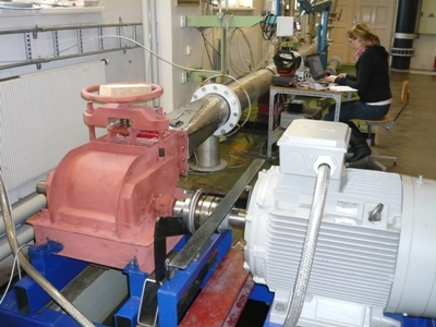 Laboratory test crossflow turbine